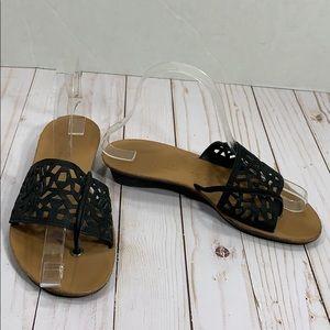 Paul Green laser cut leather sandals size 3 1/2